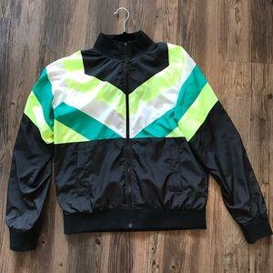 Classic 80's Vibrant Windbreaker